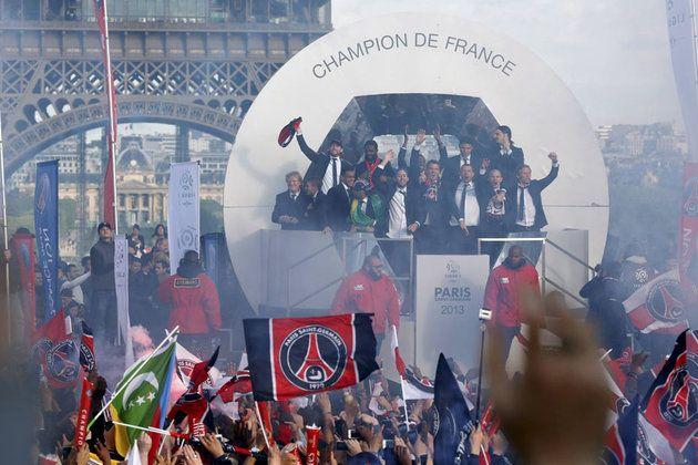 Les joueurs ne sont restés qu'un instant sur la place du Trocadéro