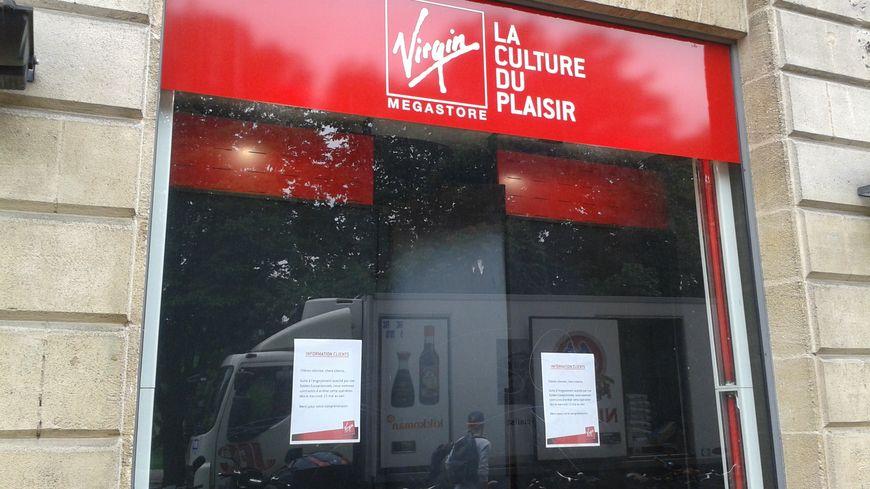 Le magasin Virgin à Bordeaux, n'a plus que quelques jours à vivre