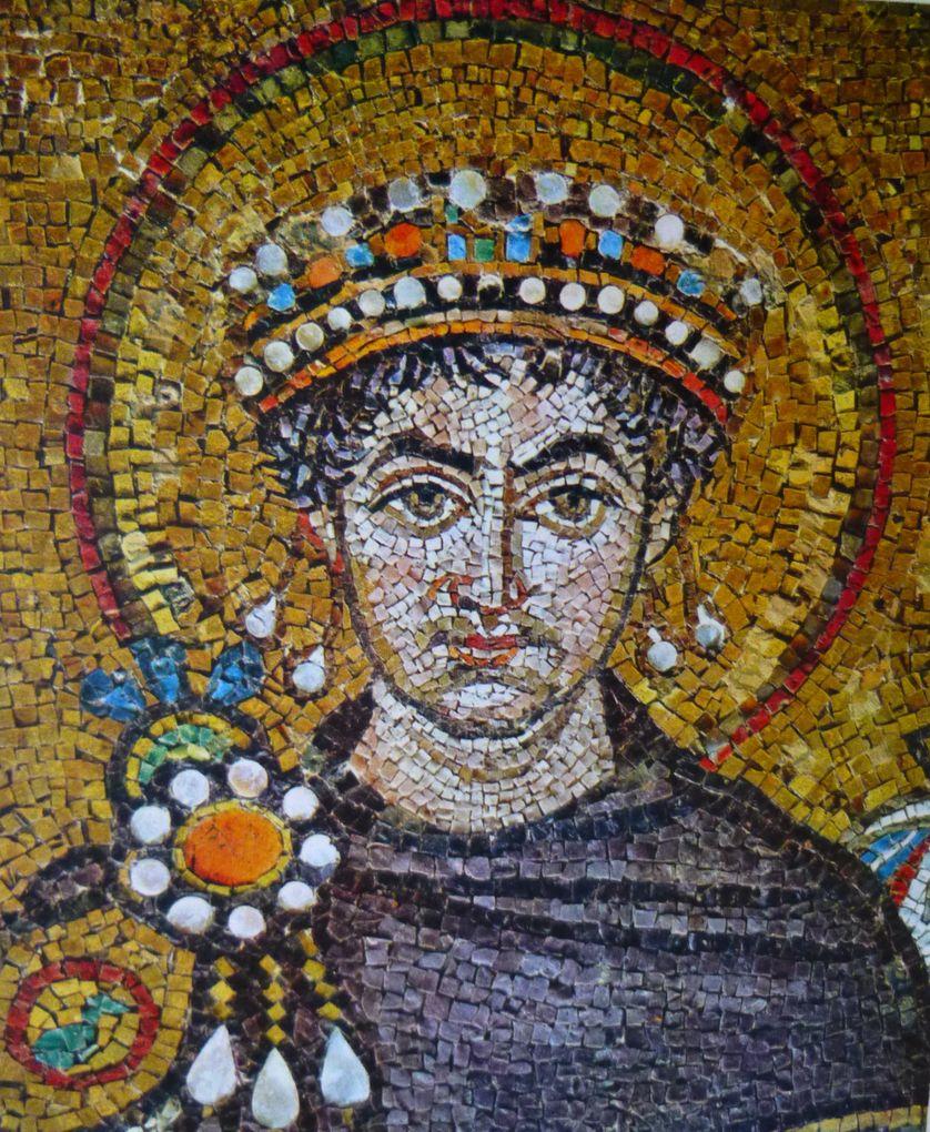 Mosaïque représentant l'Empereur byzantin Justinien