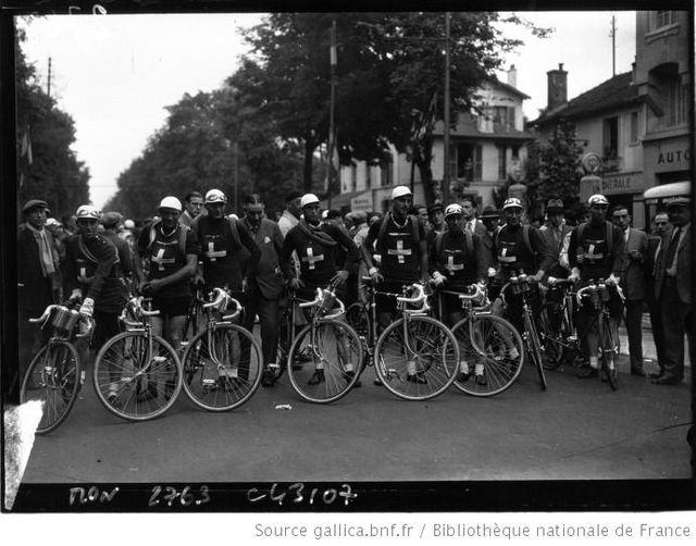 L'équipe Suisse du Tour en 1932