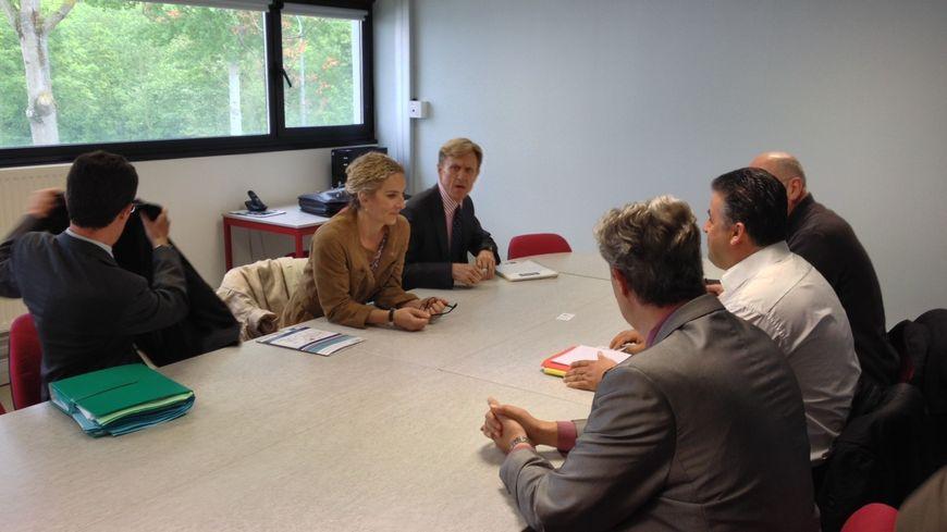 Delphine Batho, ministre de l'Ecologie et de l'Energie à Amiens