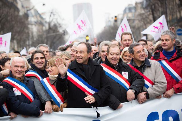 """L'UMP à la """"Manif pour tous"""" du 13 janvier à Paris"""
