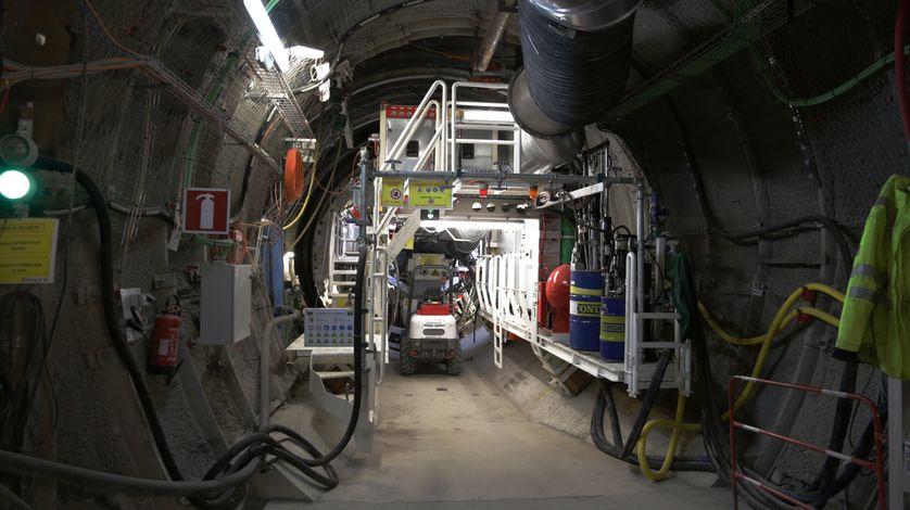 Dans une galerie du laboratoire souterrain de l'Andra à Bure