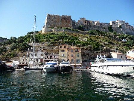 Vue depuis le port de Bonifacio - Corse