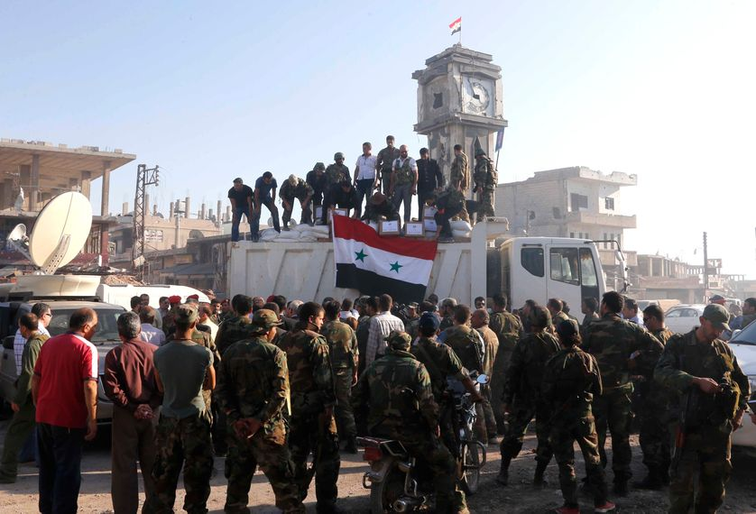 Victoirede l'armée syrienne Qousair
