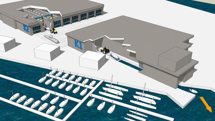 Le projet de port à sec dans l'enceinte de la Base sous-marine de Lorient Keroman