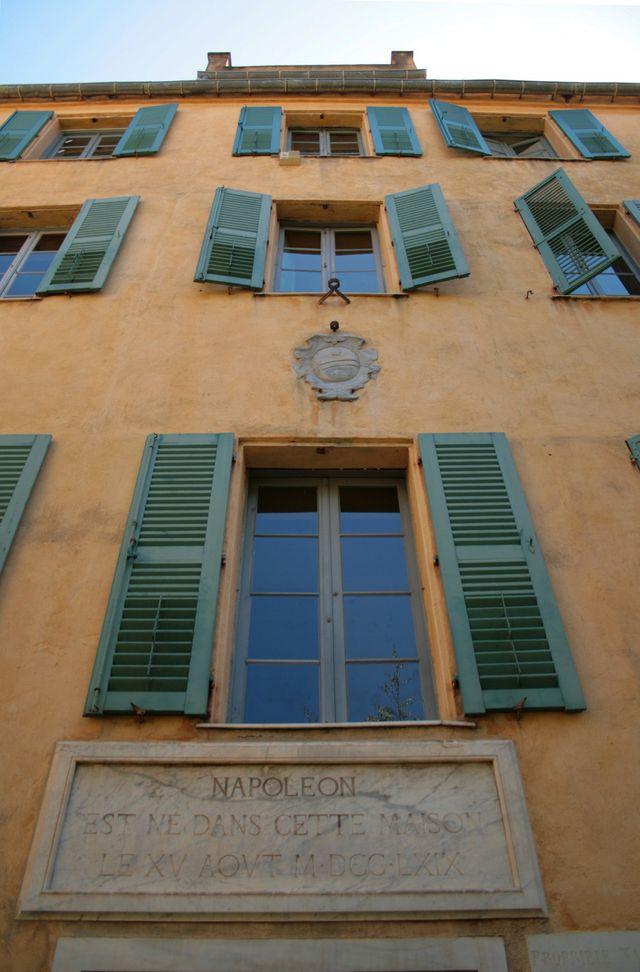 Façade de la maison Napoléon Bonaparte Ajaccio (Corse-du-Sud)