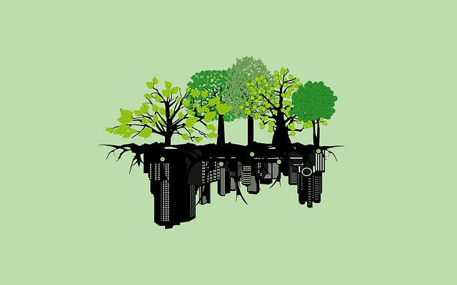 Nature - City Wall paper