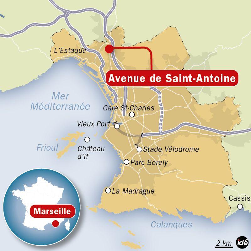 quartier nord marseille carte Marseille : un homme de 49 ans abattu dans les quartiers Nord