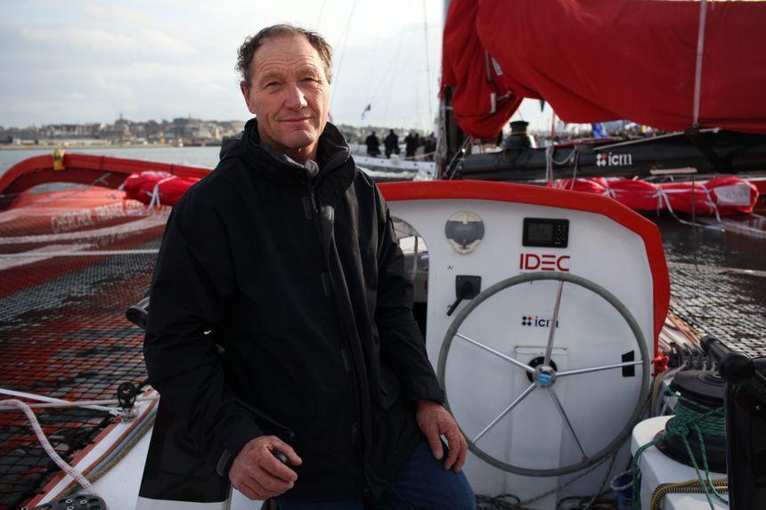 Francis Joyon, recordman de la traversée de l'Atlantique en solitaire