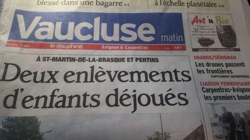 Journal Vaucluse matin du 18/06/13