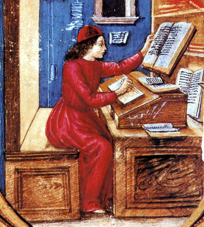 Copiste au Moyen-Age