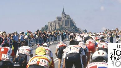 tour de france dans la manche, avranches, Mont St Michel, France Bleu Cotentin