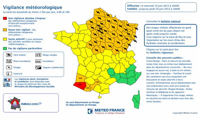 Un département maintenu en vigilance orange par Météo-France