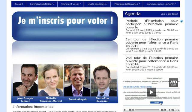 Le site pour voter aux primaires UMP à Paris