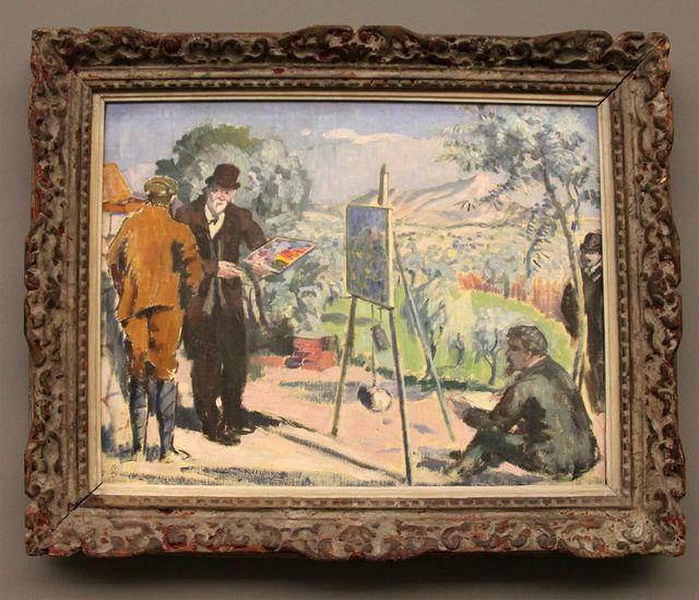 Maurice Denis - Visite à Cézanne - 1906 - Musée Granet