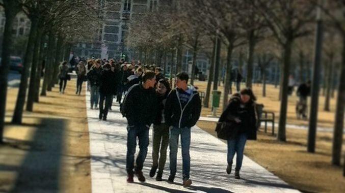 L'heure de la sortie au lycée Emile Loubet à Valence.