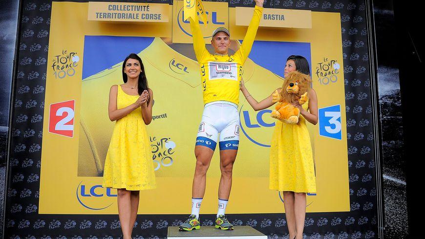 Marcel Kittel remporte la 1e étape du Tour de France 2013 et le maillot jaune de leader