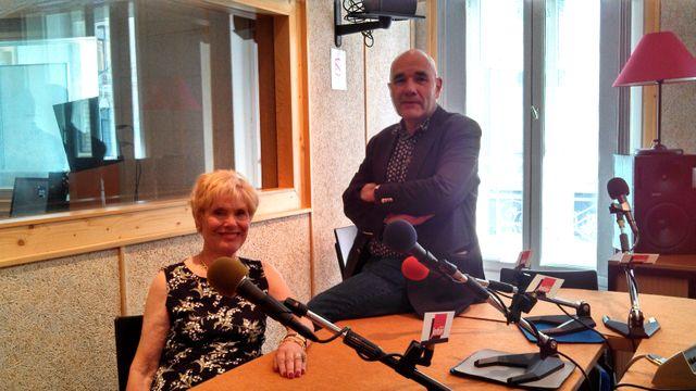 Simone Garnier et Jean Lebrun dans les bureaux de Radio France à Lyon