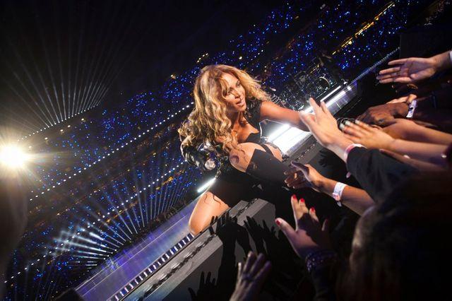 Beyoncé lors de la finale du Super Bowl