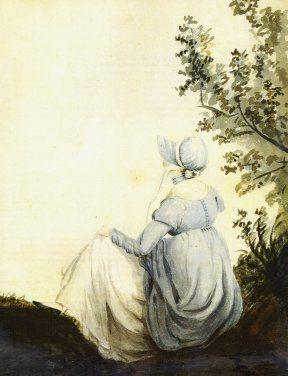 Aquarelle de Jane Austen par sa soeur Cassandra