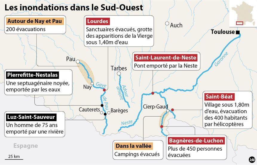 Inondations dans les Pyrénées : les dégâts, les victimes