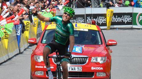 David Veilleux maillot jaune criterium