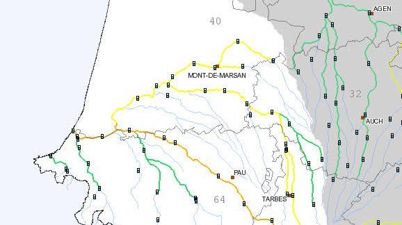 Cours d'eau du Sud Ouest : la situation ce jeudi à 10h, selon Vigicrues