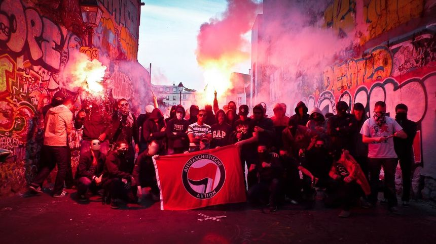 Les antifas du groupe Action antifasciste Paris-Banlieue.