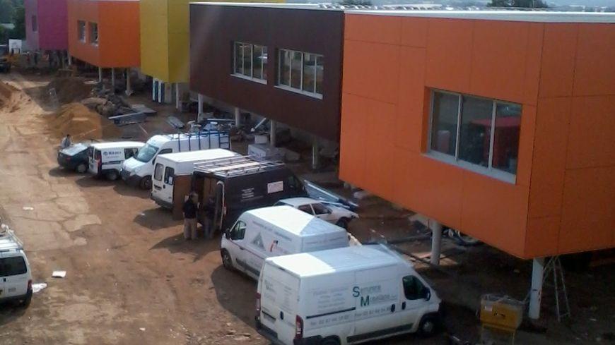 Le chantier du lycée professionnel BTP de Montigny-lès-Metz