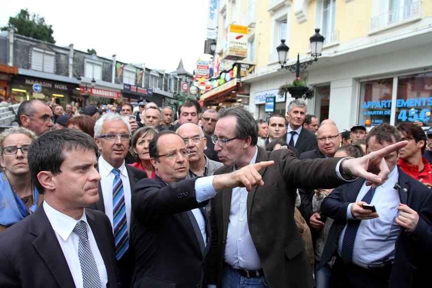 Manuel Valls et François Hollande à Saint Béat