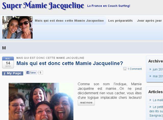 """Capture du site """"Super Mamie Jacqueline"""""""