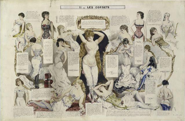 Études sur les femmes : les corsets, 1882-1890