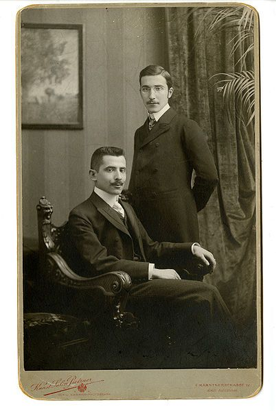 Stefan Zweig et son fère Alfred à Vienne, vers 1900