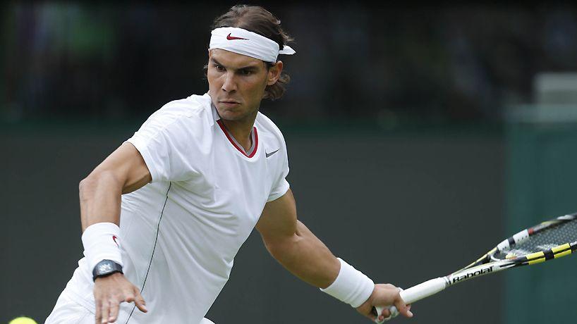 Le gaucher espagnol Rafaël Nadal est tombé sur un os à Wimbledon