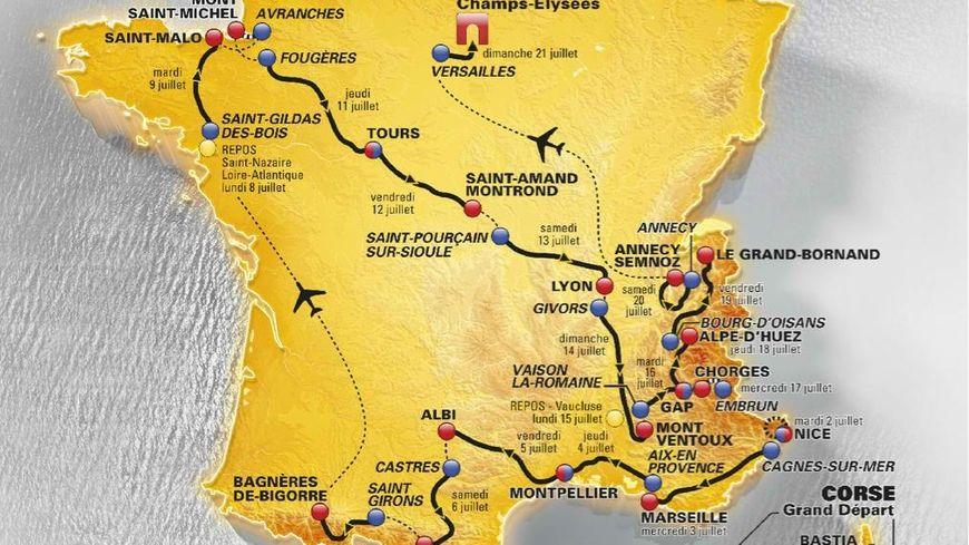 Le parcours du Tour de France 2013