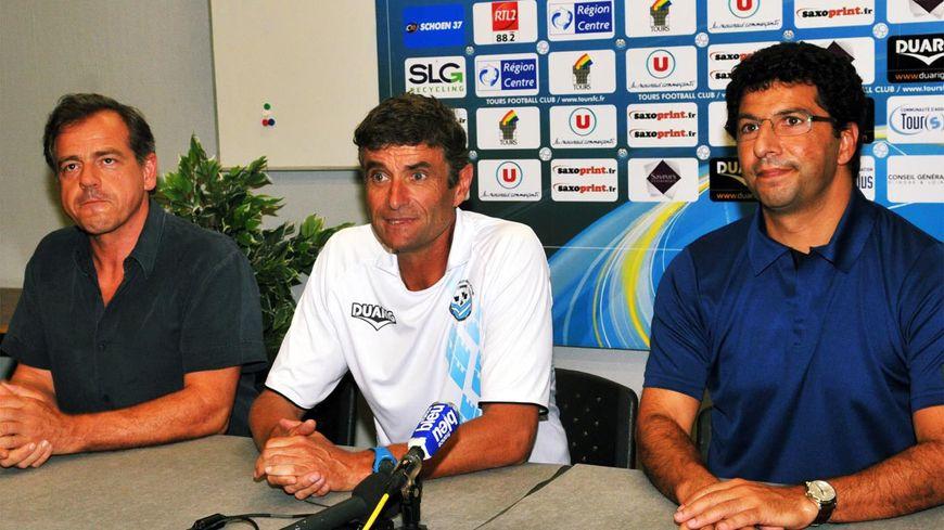 Frédéric Sebag (à droite) représente le club tourangeau