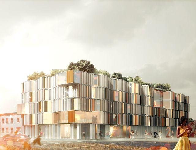 Logement étudiant à Aubervilliers, projet de Marchi_Architectes