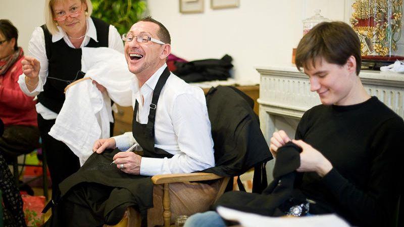 Pascal Jaouen et ses élèves
