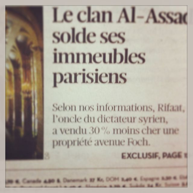 Article en Une de Libération du 25-06-13