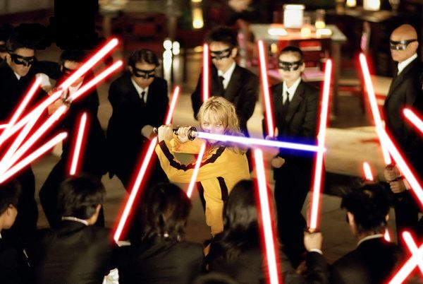 Lightsabers and Kill Bill