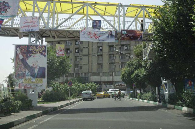 Affiches électorales à Téhéran