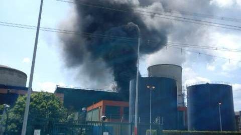 Incendie à la centrale nucléaire de Cattenom