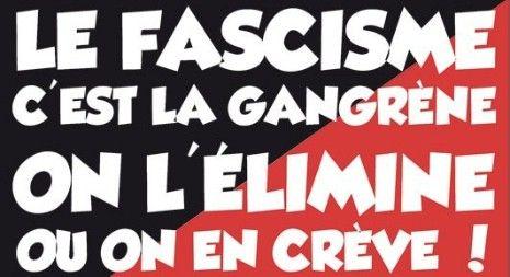 Un des slogans des antifas du réseau Action antifasciste Paris-banlieue.