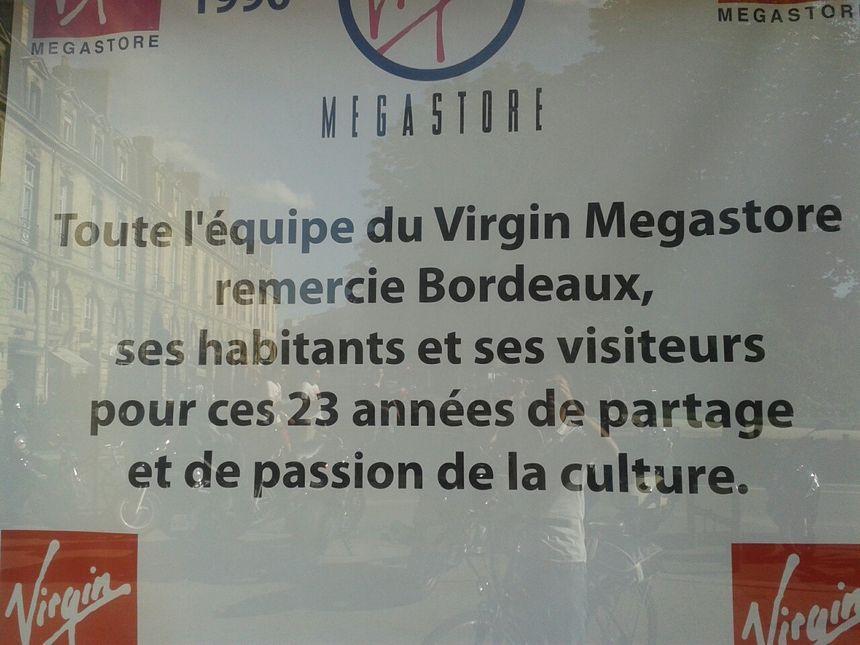 Les remerciements des salariés de Virgin