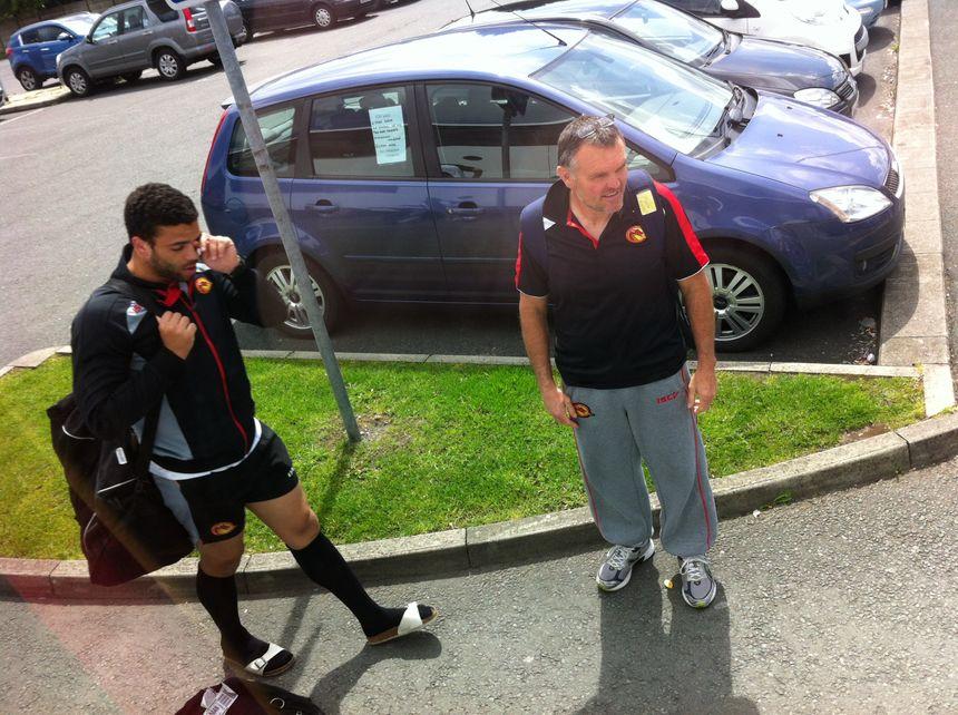 Kevin Larroyer, joueur des Dragons Catalans
