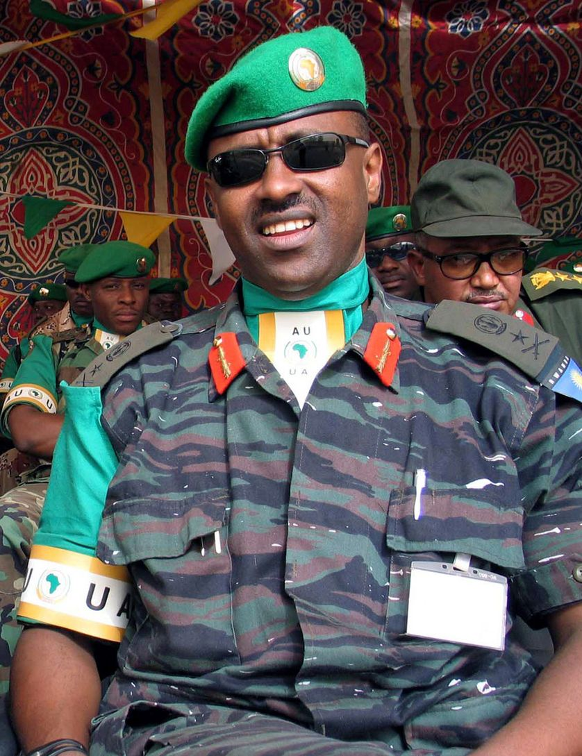 Le général rwandais Jean-Bosco Kazura en mai 2005 au Darfour