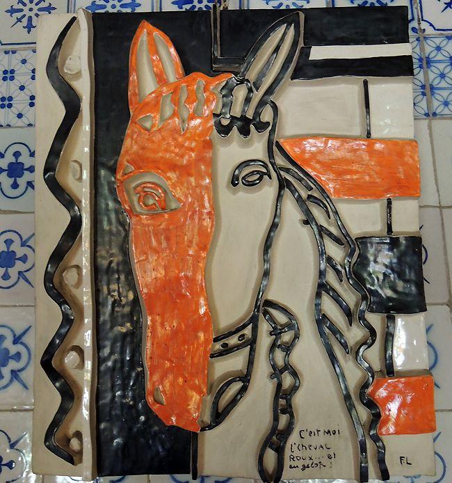 Maison Aragon_Le cheval roux, par Fernand Léger