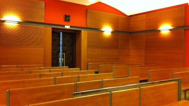 Une salle d'audience au palais de Justice de Valence.