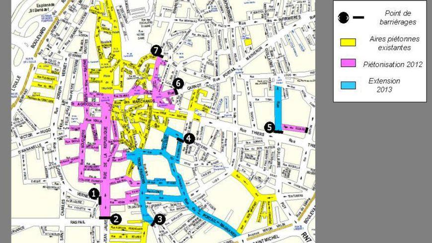 Plan des restrictions de circulation à Avignon
